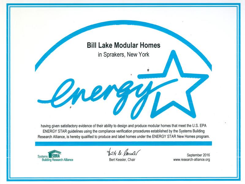 Energy Star Bill Lake Homes